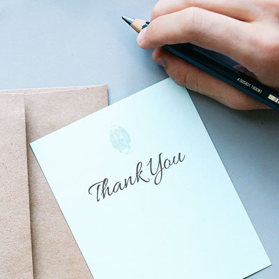 Thank You Cards – When To Send & What To Write