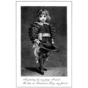 The beginning of Christmas card giving - 1877 Christmas Card